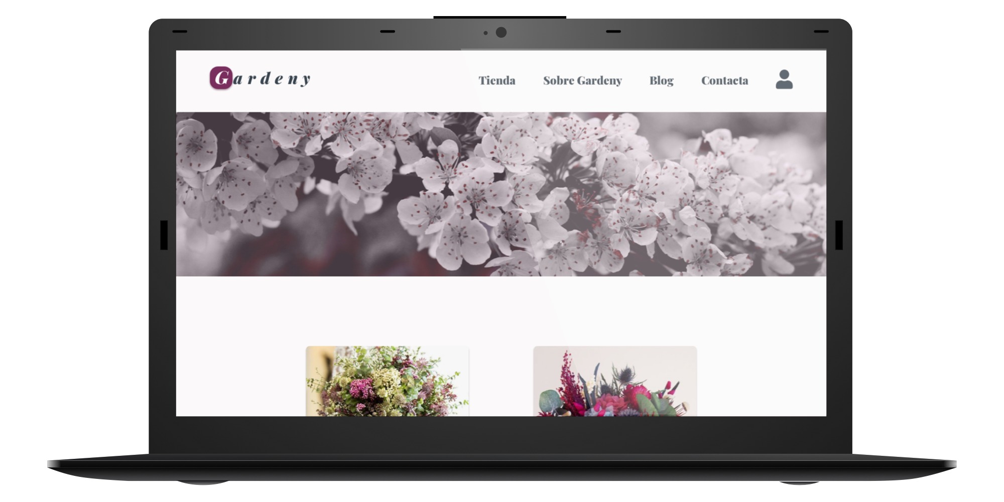 Gardeny website mockup