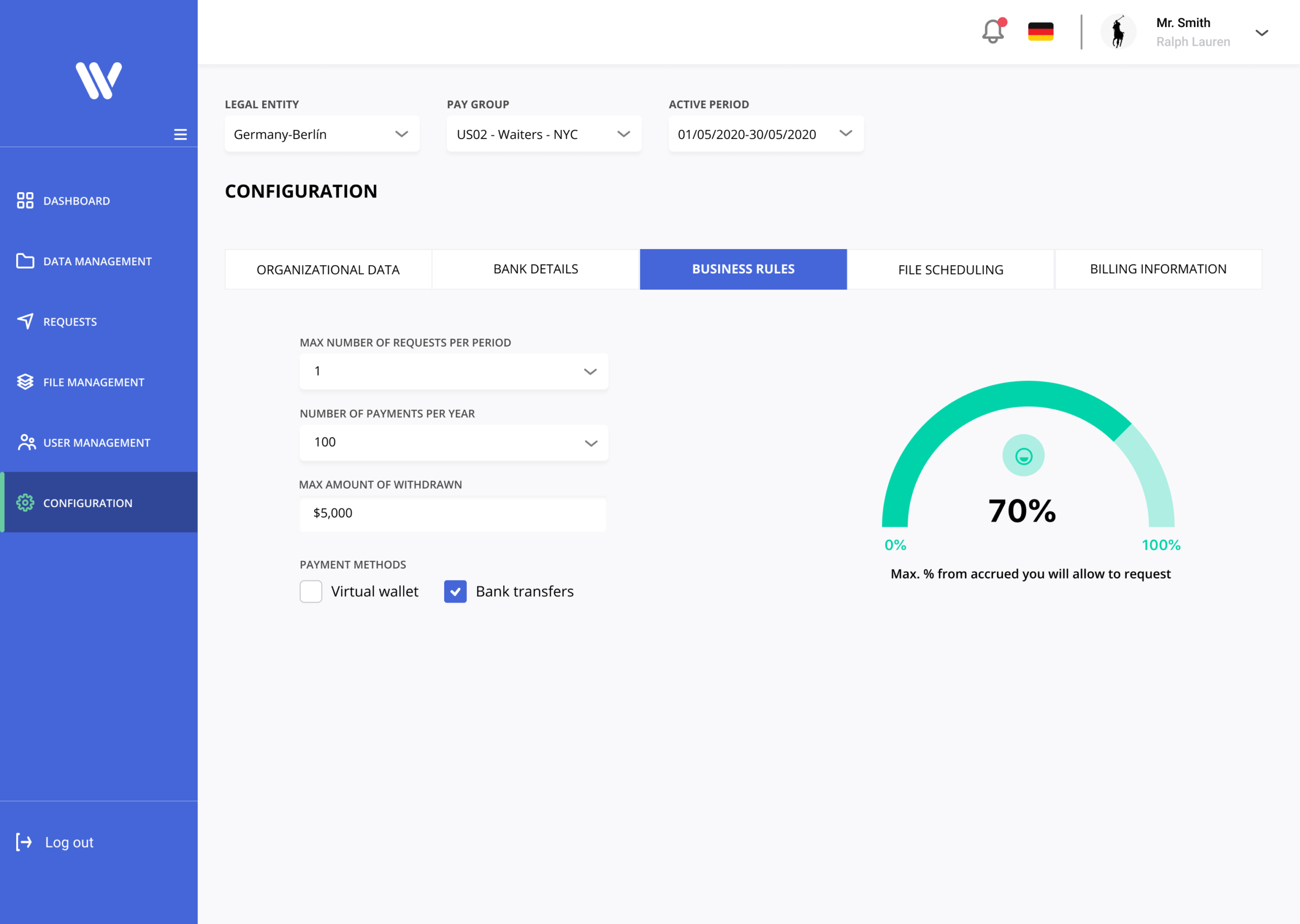 Configuration's page redesign